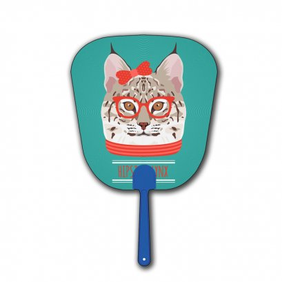 Low price plastic PET 3D Lenticular Custom Printed hand Fans