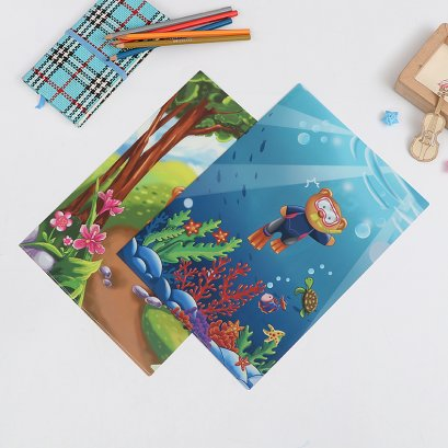 Office A4 file folder with 3d lenticular picture