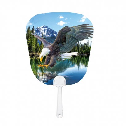 Promotion Hand fans custom printed PET fan with 3D lenticular printing