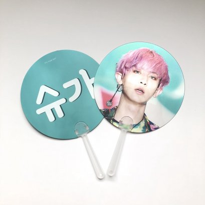 custom handfan with Celebrity of 3D lenticular hand fans