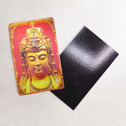 lenticular print 3d magnet of buddha god for tourism use