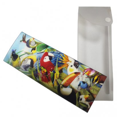 plastic 3d lenticular pencil case