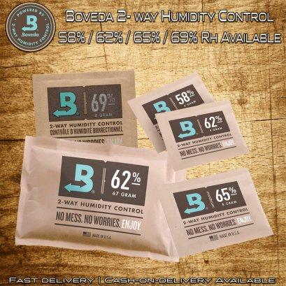 Boveda 2-Way Humidity Control 58%, 62%, 65% & 69% rh in pack of 4/8/67 grams ซองควบคุมความชื้น โบเวด้า