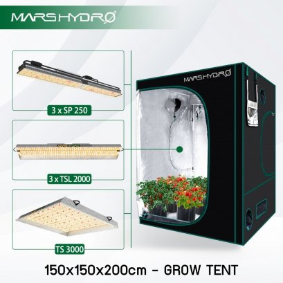 MARSHYDRO 150x150 x200cm Reflective Mylar Hydroponic Grow Tent for Indoor Plant Growing (60''X60''X80'')