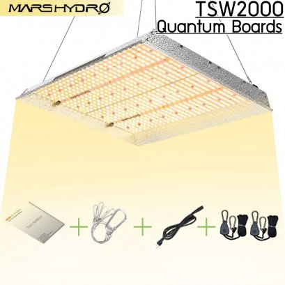 MARS HYDRO TSW2000 Quantum Boards ไฟปลูกต้นไม้ รุ่น TSW2000 LED Grow Light Full Spectrum 2019 Full Spectrum Plants Growing Lights for outdoor & Hydroponic indoor for Seeding, veg, bloom stage in Grow tent or Green house by MARS HYDRO Sun-like Spectrum