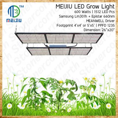 ไฟปลูกต้นไม้ HLG Samsung LM301H v3 Board & Meanwell Driver Indoor Grow Light 600 Watts Full Spectrum Mix Epistar660 High Quality Lamp