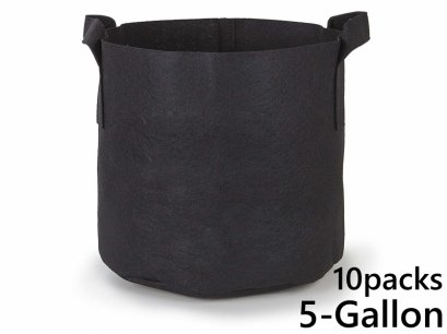 แพ็ค 10! ถุงปลูกต้นไม้แบบผ้า ขนาด 5แกลลอน สูง 25ซม Smart Grow Bag 5-Gallon - Fabric Pot