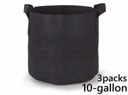 แพ็ค 3! ถุงปลูกต้นไม้แบบผ้า ขนาด 10แกลลอน สูง 40ซม Smart Grow Bag 10-Gallon - Fabric Pot