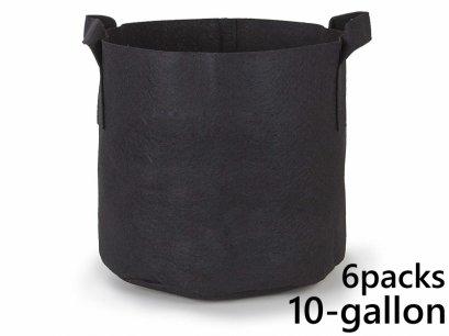 แพ็ค 6! ถุงปลูกต้นไม้แบบผ้า ขนาด 10แกลลอน สูง 40ซม Smart Grow Bag 10-Gallon - Fabric Pot