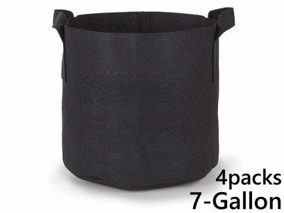 แพ็ค 4! ถุงปลูกต้นไม้แบบผ้า ขนาด 7แกลลอน สูง 30ซม Smart Grow Bag 7-Gallon - Fabric Pot