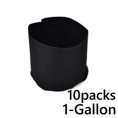 แพ็ค 10! ถุงปลูกต้นไม้แบบผ้า ขนาด 1แกลลอน สูง 15ซม Smart Grow Bag 1-Gallon - Fabric Pot