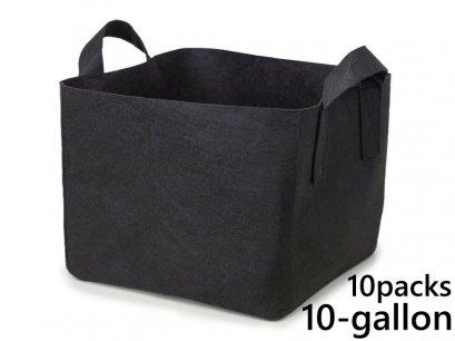 แพ็ค 10! ถุงปลูกต้นไม้แบบผ้า ขนาด 10แกลลอน ทรงสี่เหลี่ยม สูง 30ซม Smart Grow Bag 10-Gallon - Fabric Pot Square Shaped
