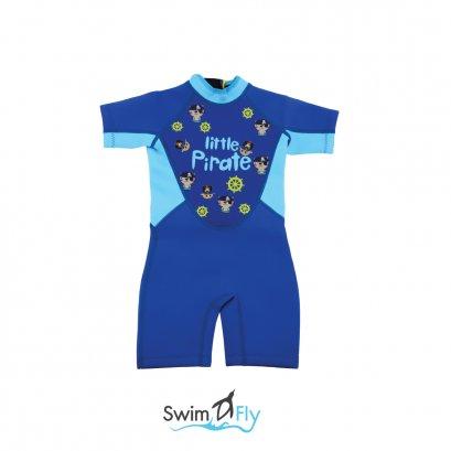 ชุดว่ายน้ำกันหนาว, ชุดว่ายน้ำรักษาอุณหภูมิ Wetsuits Little Pirate (Blue) SwimFly