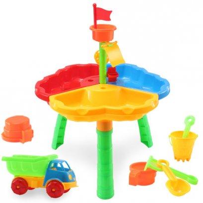 โต๊ะเล่นทรายและน้ำ พร้อมเซ็ทของเล่นทราย