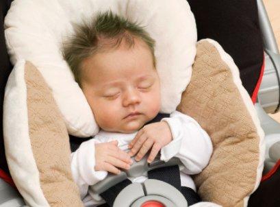 หมอนพร้อมเบาะรองนอน สำหรับคาร์ซีทและรถเข็น