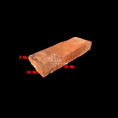 อิฐโบราณ 03 (ผิวหยาบ เผาฟืน) ขนาด 5X10X30 ซม.