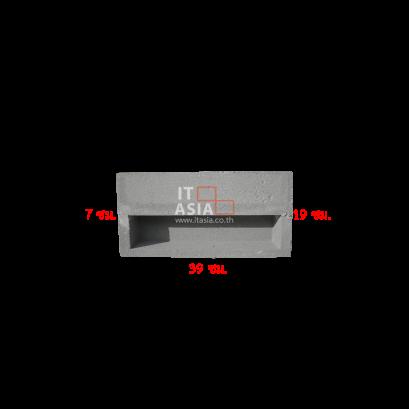 อิฐบล็อก ช่องลม ลิ้นคู่ (ลับแล) 7 ซม. 7x19x39 ซม.