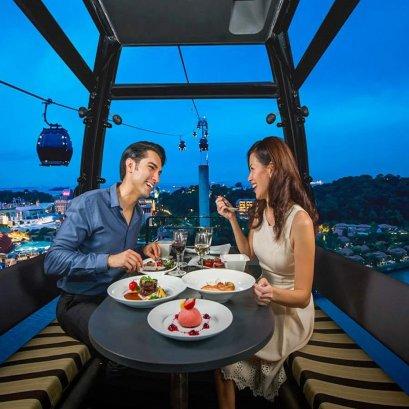 ทานอาหารค่ำบนกระเช้าลอยฟ้า Cable Car Sky Dining