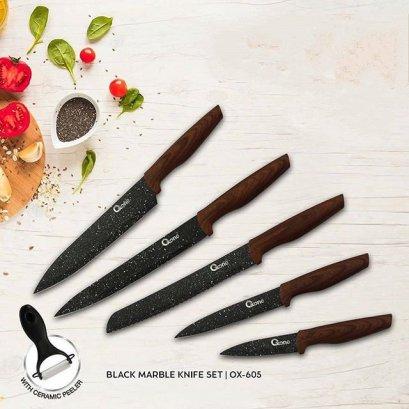 Black Marble Knife Set-Oxone