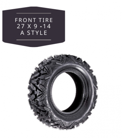 Front Tire 27x9-14 QIND