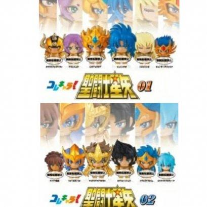 Bandai Gachapon Collechara!! Saint Seiya Figure 01 & 02