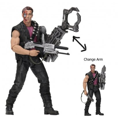 """Terminator 7"""" Figures - T2 Kenner Tribute Power Arm T-800"""