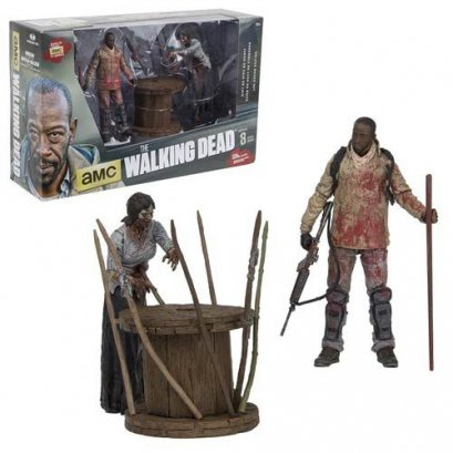 The Walking Dead TV Series Morgan and Impaled Walker Deluxe Action Figure Box Set