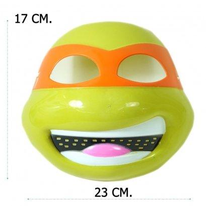 หน้ากากเต่า (นินจา) หน้ายิ้ม คาดตาสีส้ม