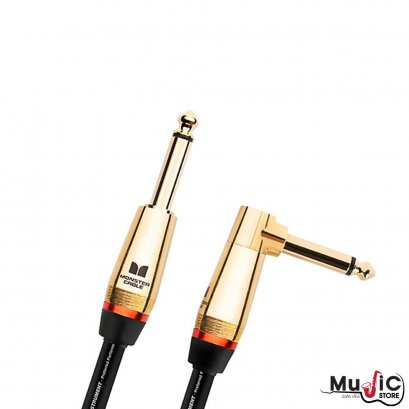 Monster Rock 12ft Angled to Straight Instrument Cable
