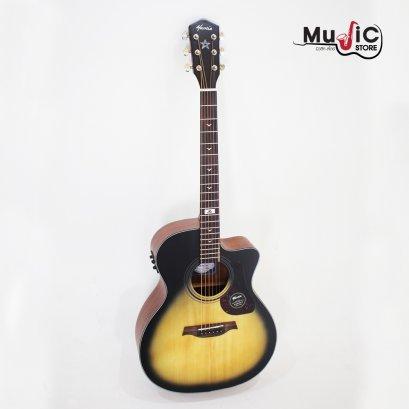 Mantic GT10GCE Sunburst Solid Top Acoustic Electric Guitar