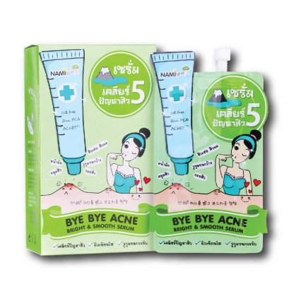 Nami Bye Bye Acne Bright & Smooth Serum 1 Box (6 Sachets)