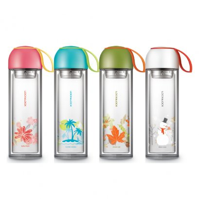 LLG658  Four season glass water bottle