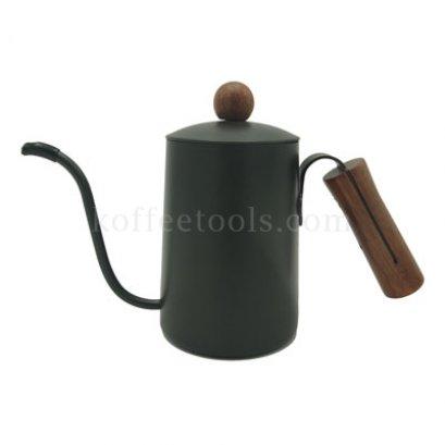 กาดริปกาแฟเทปล่อนสีเทาดำ ด้ามจับไม้สีสัก 600 ml
