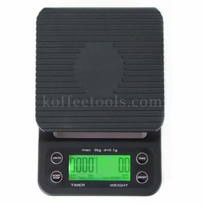 เครื่องชั่งกาแฟดิจิตอลแบบจับเวลา timer scale (3 kg /0.1 g)
