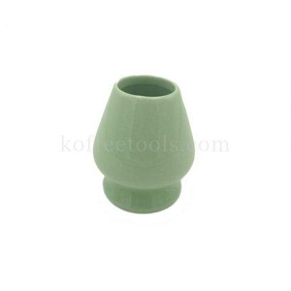 ที่วางแปรงชงชาขียวมัทฉะเซรามิกสีเขียว