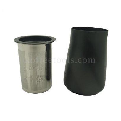 กระบอกสแตนเลสใส่ผงกาแฟ300 ml  สีดำ