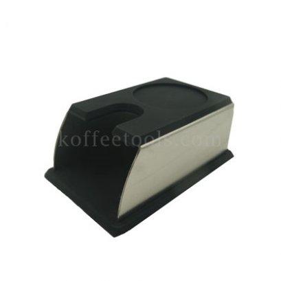 แท่นยางรองแทมเปอร์(ทรงกล่อง) สีดำ