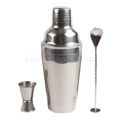 ชุด shaker cocktail 750 ml (shaker , jigger , bar spoon)