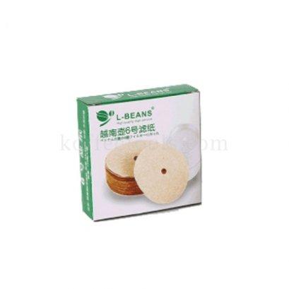 กระดาษกรอง L-beans สำหรับ กาแฟเวียดนาม (ใช้คู่กับรหัส 1116 เท่านั้น)