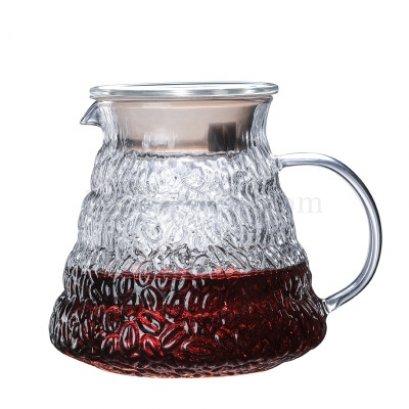 โถแก้วรองกาแฟดริป ลายเมล็ดกาแฟ 500 ml