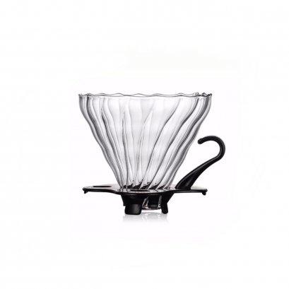 ดริปเปอร์แก้วพร้อมฐานรองสีดำ (1-2 cup)