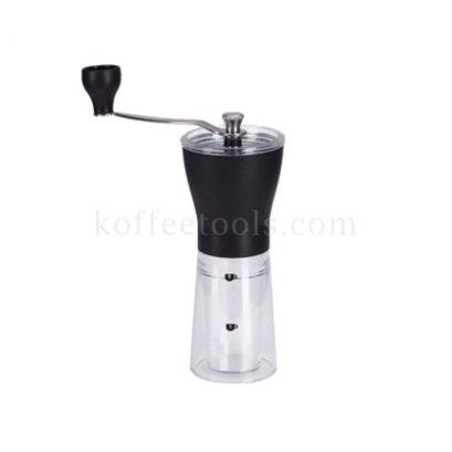 เครื่องบดเมล็ดกาแฟมือหมุนพลาสติกใส มีขีดสเกล 1-2 cup