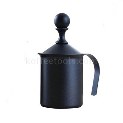 เหยือกปั้มฟองนมสีดำ 400 ml grade B