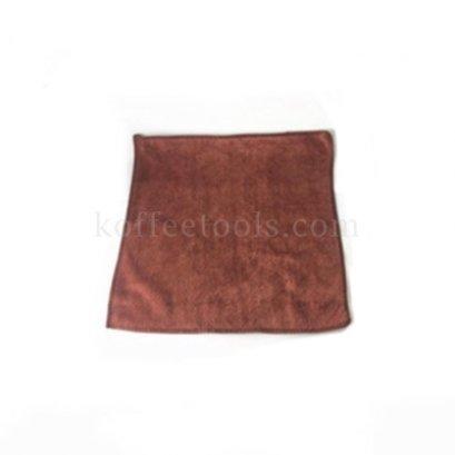 ผ้าทำความสะอาดอุปกรณ์กาแฟมีที่แขวน สีน้ำตาลอ่อน