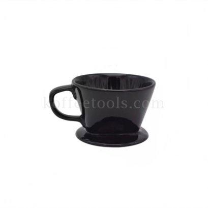 ดริปเปอร์เซรามิคสีดำ ทรงกรวยตัด ( 1-2 cup)