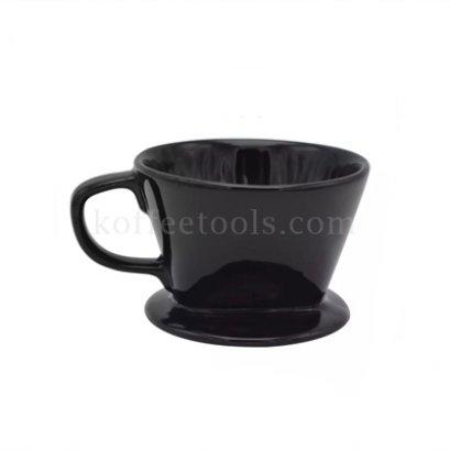 ดริปเปอร์เซรามิคสีดำ ทรงกรวยตัด ( 2-4 cups)