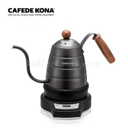 กาดริป 700ml สีดำ+แท่นไฟฟ้า  ยี่ห้อ cafede kona