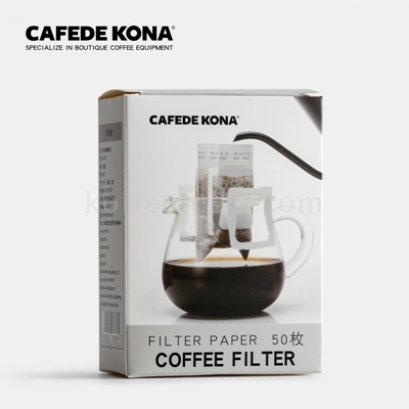 กระดาษกรองกาแฟมีหูแขวน (50 แผ่น)