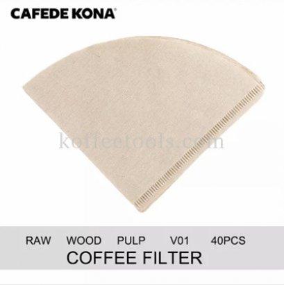 กระดาษกรองกาแฟดริป01 (ck 8021) 40 pcs ยี่ห้อ cafede kona