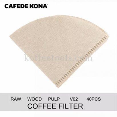 กระดาษกรองกาแฟดริป02 (ck 8022) 40 pcs ยี่ห้อ cafede kona